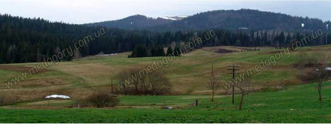 Весна. Вид на гору Бердо з села Тухолька.